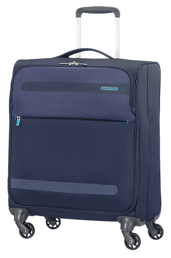 Mala de Cabine Ultraleve 56 cm c/ 4 Rodas Azul Escuro - Herolite   American Tourister