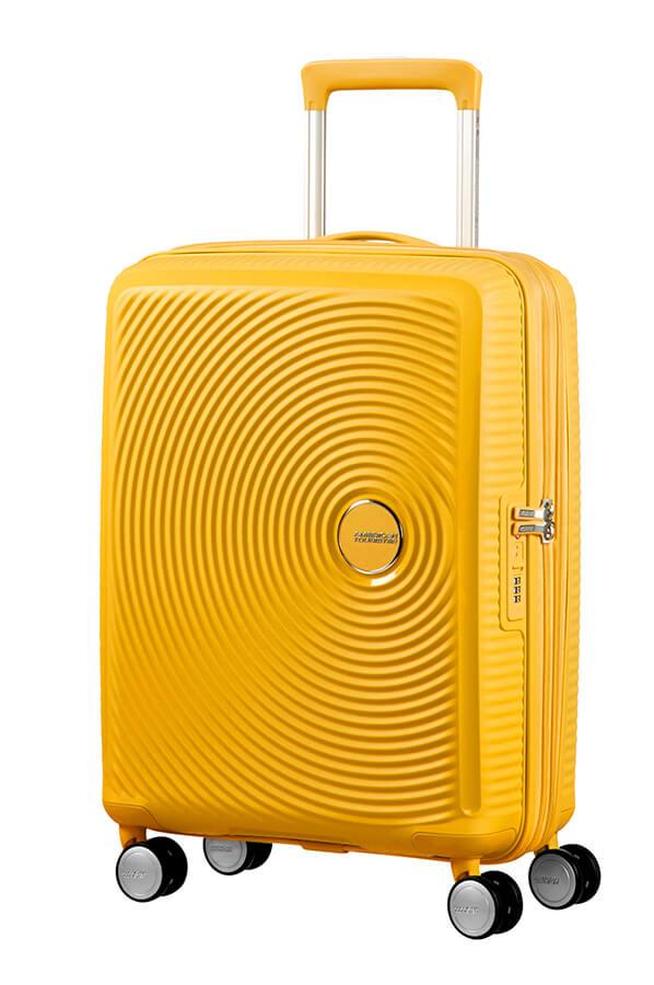 Bagagem de Cabine 55cm Expansível Golden Yellow - Soundbox | American Tourister