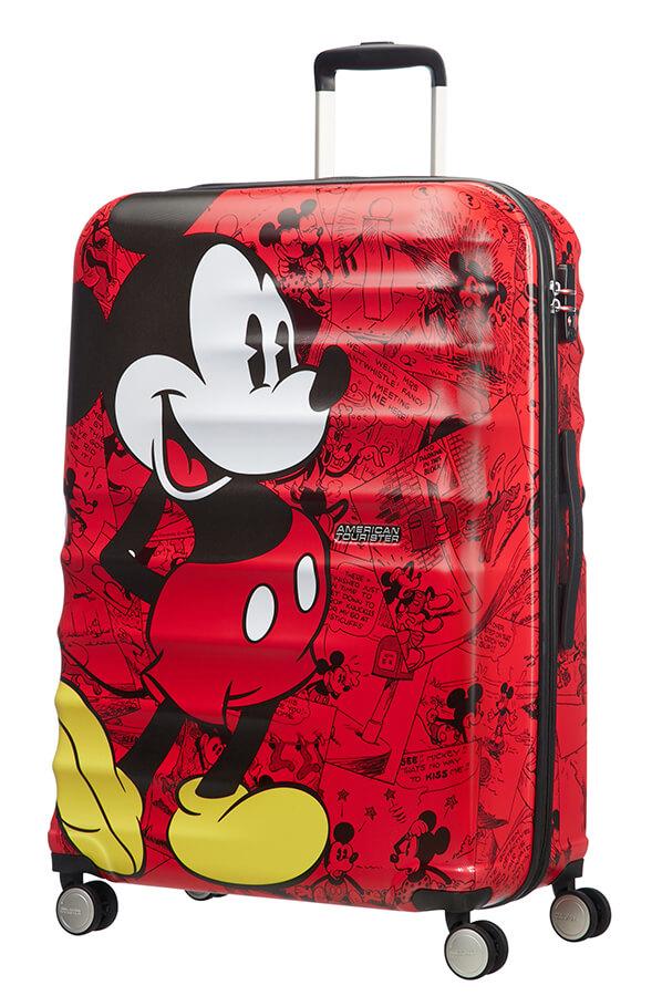 Detalhe - Mala de Viagem 4 Rodas 77cm Mickey Comics Red | Americantourister.pt
