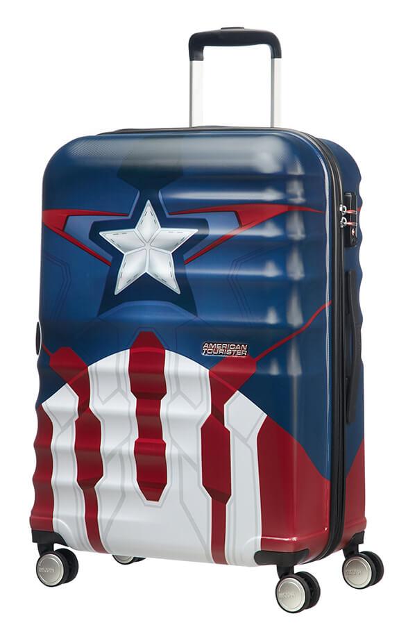 Mala de Viagem Média 67cm c/ 4 Rodas Capitão América | American Tourister