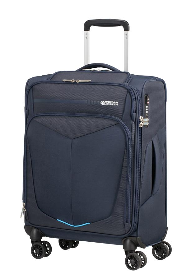 Mala de Cabine 55cm c/4 Rodas c/ Entrada USB Azul Marinho - SummerFunk | American Tourister