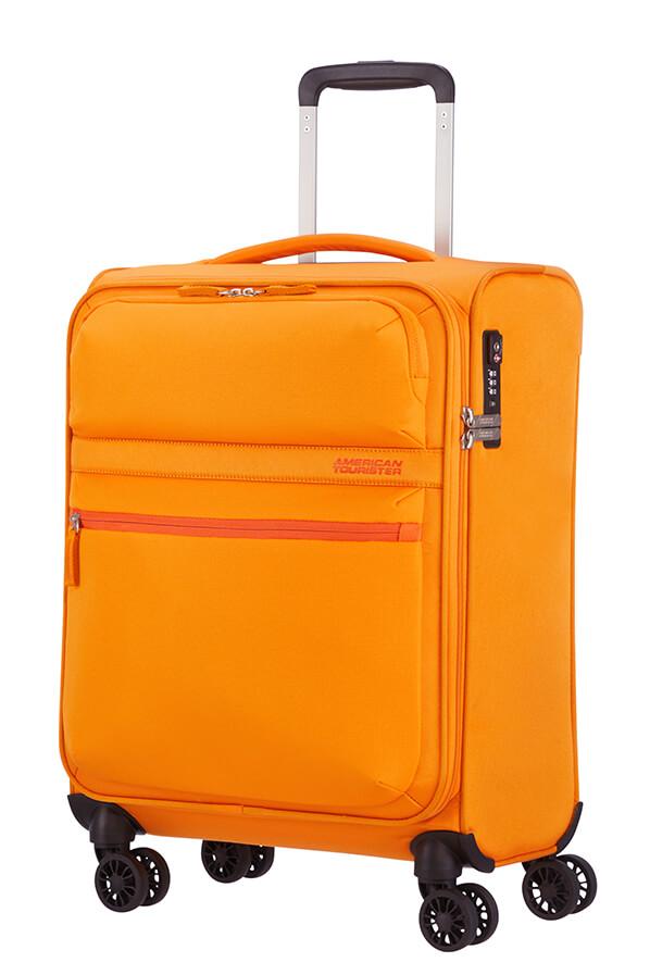 Mala de Cabine Leve 55cm c/4 Rodas Amarelo Torrado - MatchUP   American Tourister